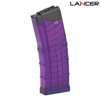 Lancer L5AWM AR-15 30 Round Translucent Purple Magazine