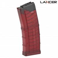 Lancer L5AWM AR-15 30 Round Translucent Red Magazine